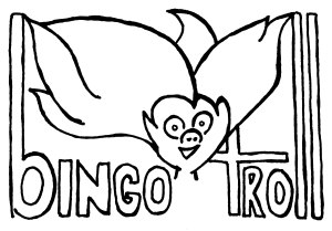 Bingo Troll (Mostly Happy)