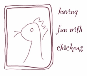 having fun with chickens
