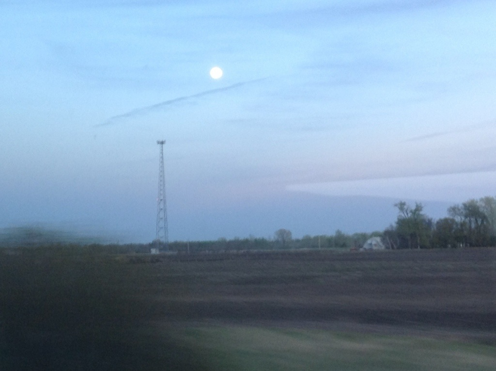 May Moon from a VIA RAIL window (pbustin 2013)