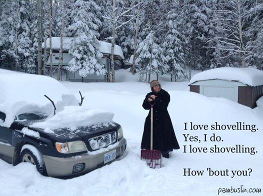 I love Shovelling!