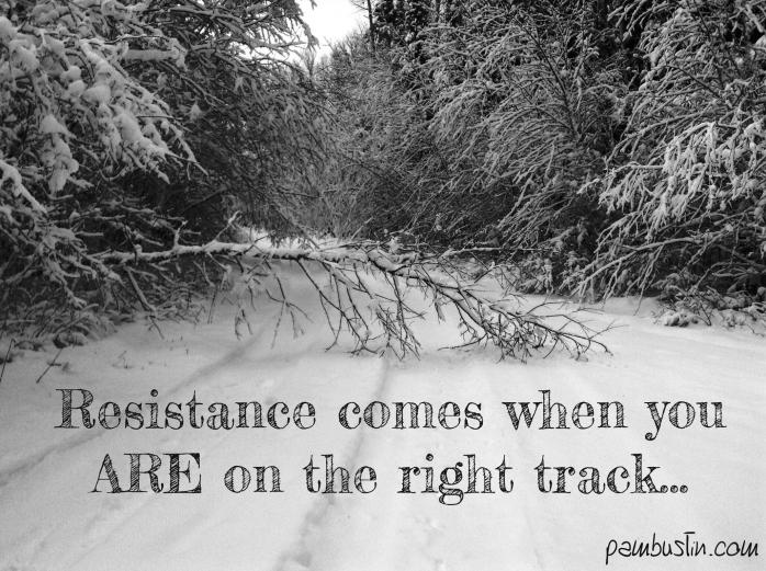 resistance comes