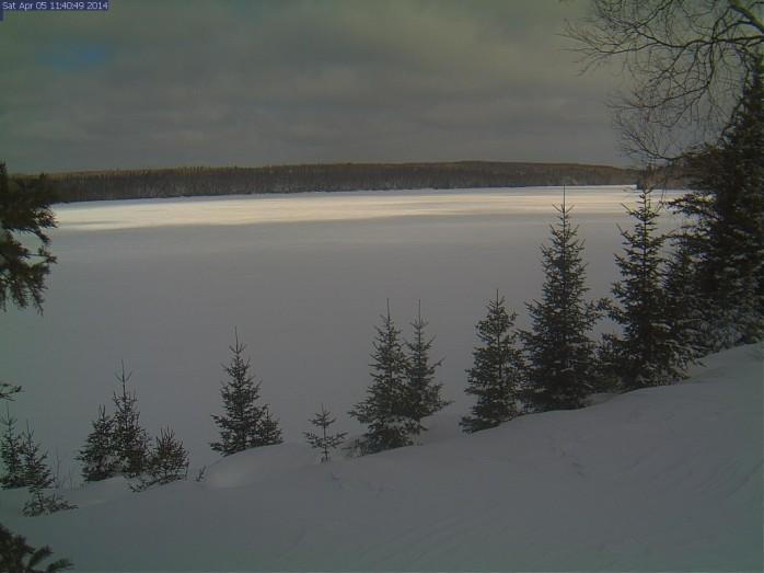 The River is still frozen...