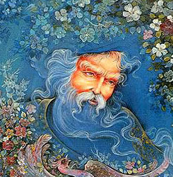 I can't remember where I originally found this image of Rumi.